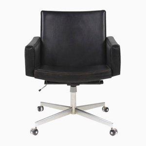 Chaise de Bureau Mid-Century en Cuir par Hans J. Wegner pour A.P. Stolen