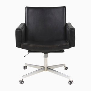 Mid-Century Leather Office Chair by Hans J. Wegner for A.P. Stolen
