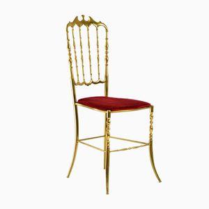 Chiavari Brass Ballroom Chair, 1960s