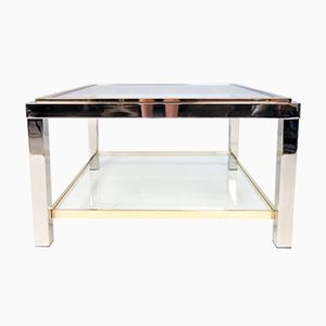 Vintage Flamina Glass Coffee Table by Willy Rizzo