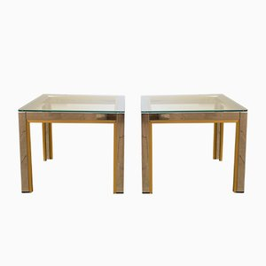 Brass and Chrome Coffee Tables by Renato Zevi for Romeo Rega, 1970s, Set of 2