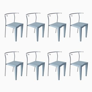 Vintage French Chairs by Philippe Starck for Kartell, 1980s, Set of 8