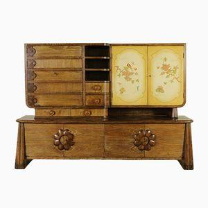 Oak Veneer Cabinet, 1950s