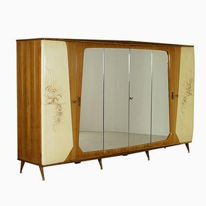 Vintage Mahagoni Furnier Kleiderschrank