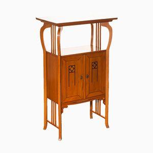 Elm Art Nouveau Cabinet, 1920s