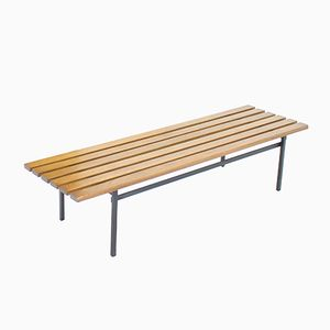 Vintage P1 Slat Bench in Teak by Hans Könecke for Tecta