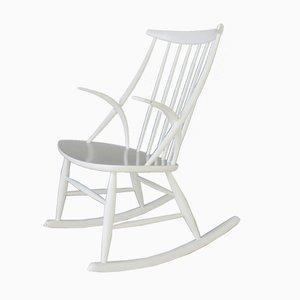 Rocking Chair Vintage par Illum Wikkelsø pour N. Eilersen, Danemark