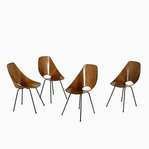 Bentwood Medea Chairs by Vittorio Nobili for Tagliabue Brothers, 1960s, Set of 4