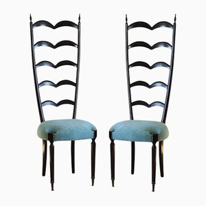 Vintage Ladder Backed Chairs by Paolo Buffa for Marelli & Colico