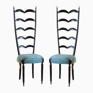 Vintage Sessel mit Latten-Rückenlehne von Paolo Buffa für Marelli & Colico
