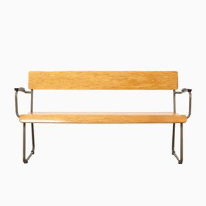 Tubular Bench by W.H. Gispen for Gispen, 1930s