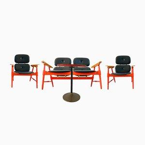 Sitzgruppe mit Couchtisch von Poltronova, 1970er