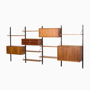 Large Vintage Royal System Wall Unit by Poul Cadovius for Cado