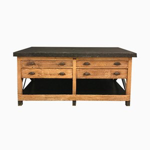 Antique Belgian Lithographers Workbench