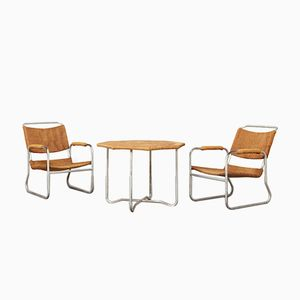 2 Easy Chairs & Table by Bas van Pelt for EMS, 1930s