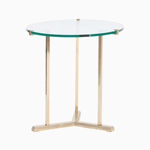 Vintage Round Brass Side Table by Peter Ghyczy