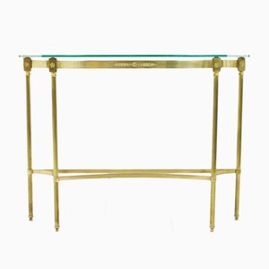 Vintage Brass & Mirror Console Table
