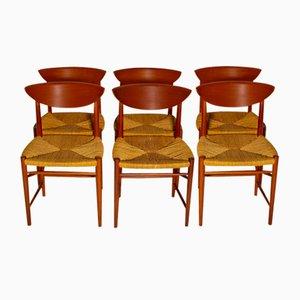 Chairs by Peter Hvidt & Orly Moolgard Nielsen for Søborg Møbelfabrik, 1960s, Set of 6