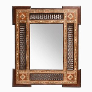 Antique Spanish Marquetry Mirror