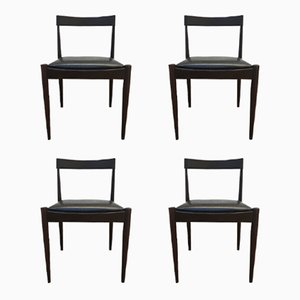 Vintage Palisander Esszimmerstühle, 4er Set