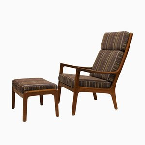 Vintage Senator Lounge Chair with Ottoman by Ole Wanscher for Cado