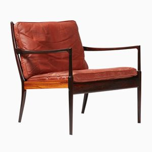 Rosewood Samso Chair by Ib Kofod-Larsen for Olof Perssons Fatoljindustri, 1960s