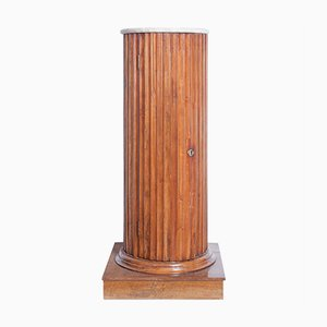 Antique Cherry Wood Empire Column with Storage
