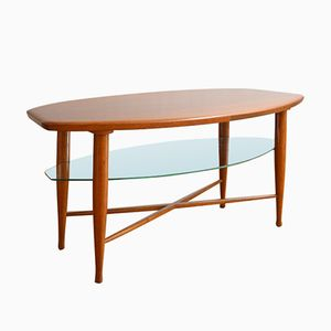 Vintage Scandinavian Coffee Table in Teak