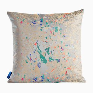 Grey Multi Crystalline Square Cushion by Other Kingdom
