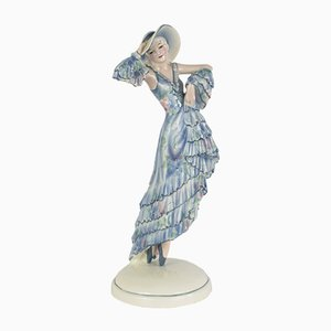Art Deco Ceramic Figurine by Josef Lorenzl for Goldscheider, 1920s