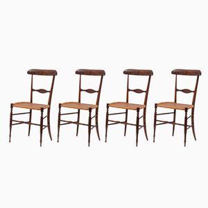 Chiavarina Chairs, 1980s, Set of 4