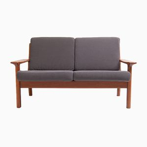 Mid-Century Two-Seater Bench by Juul Kristensen for Glostrup, 1960s