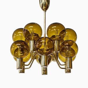 Mid-Century Swedish Chandelier by Hans-Agne Jakobsson for Hans-Agne Jakobsson AB Markaryd, 1960s