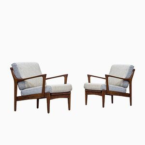 Kuba Easy Chairs by Bertil Fridhagen for Bröderna Andersson, 1950s, Set of 2