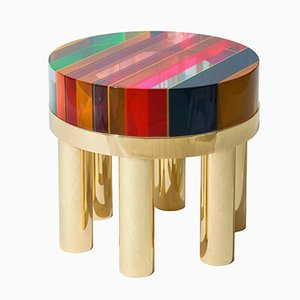 Round Plexiglass DNA Coffee Table by Studio Superego