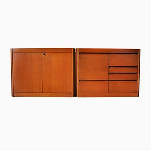 Vintage Model 4D Modular Sideboard by Angelo Mangiarotti for Molteni