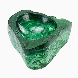 Vintage Large Malachite Ashtray