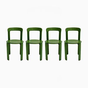 Green Dining Chairs by Bruno Rey for Kusch & Co, 1970s, Set of 4