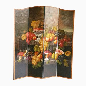 Vintage Wandschirm mit Vier Paneelen