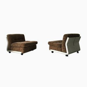 Amanta Easy Chairs by Mario Bellini for B&B Italia, 1970s, Set of 2