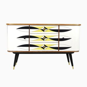 Modernist Cabinet with Pattern, 1960s