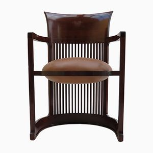 Barrel Taliesin Chair by Frank Lloyd Wright for Cassina, 1980s