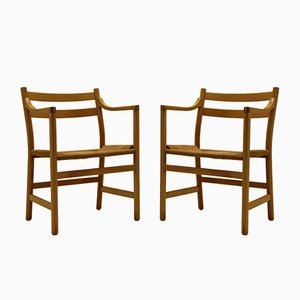 Vintage CH46 Armchairs by Hans J. Wegner for Carl Hansen, Set of 2