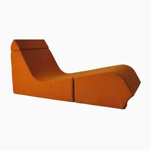 French Fireside Chair by Marc Vaïdis for Prisunic, 1970s