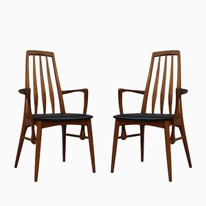 Eva Dining Armchairs by Niels Kofoed for Koefoeds Møbelfabrik, 1960s, Set of 2