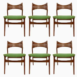Vintage Model 310 Danish Teak Chairs by Erik Buch for Chr. Christiansen, Set of 6