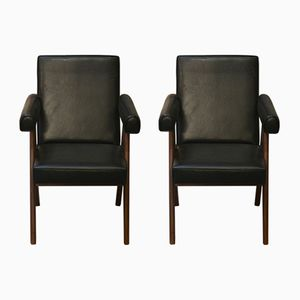Senate Committee Chairs by Pierre Jeanneret, 1954, Set of 2
