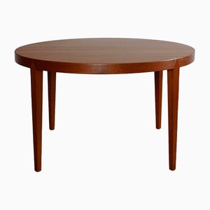 Danish Teak Round Coffee Table by Severin Hansen for Haslev, 1960s