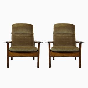 Vintage Rosewood Lounge Chairs, Set of 2