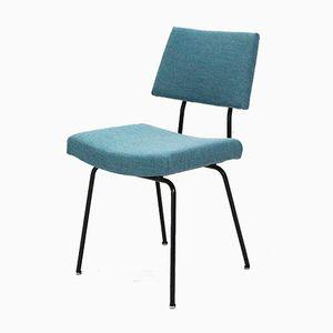 Stuhl aus Stahlrohr in Blau, 1950er